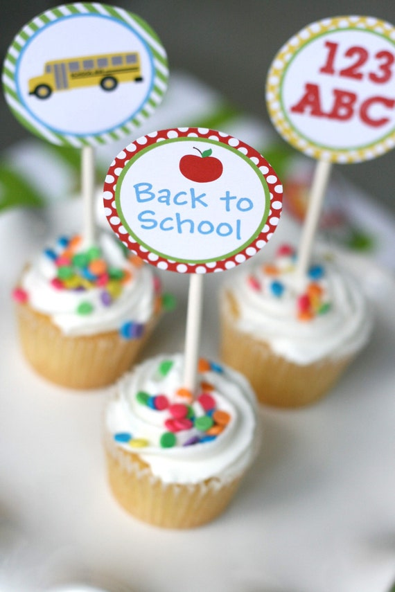 DIY, Back to School CUPCAKE TOPPERS