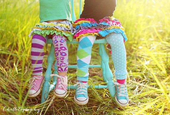 Blue and Green Argyle Baby/Toddler/Kid Leggings - Leg Warmer - Long Sleeve - Fall Winter - Back to School - Halloween Costume