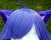 Purple and Pale Pink Clip on Cat Ears
