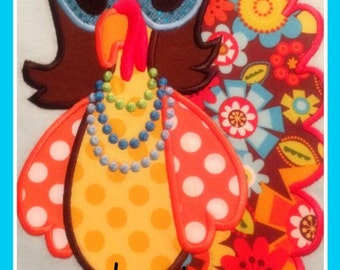 Funky Diva Turkey Machine Applique Design
