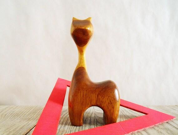 Vintage Wooden Giraffe - Childs Toy