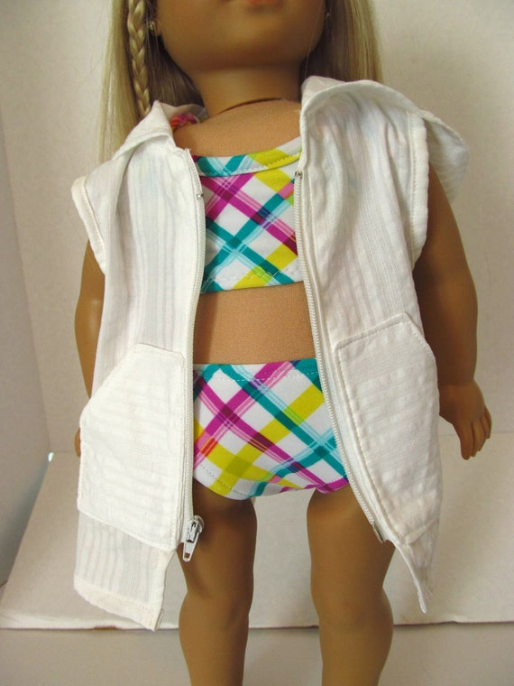 Hooded Coverup,  Bikini,   American Girl Doll Clothes