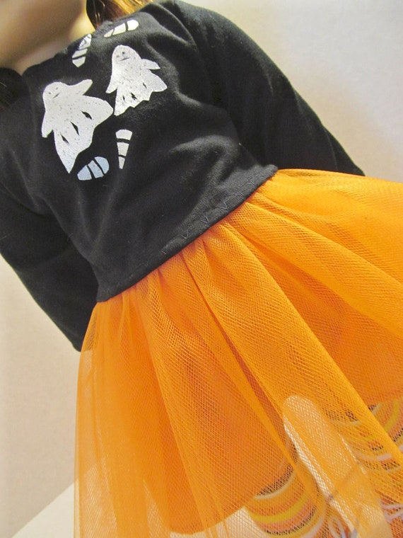 Spooky Tutu Outfit, Halloween Doll Clothes