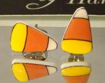 Candy Corn Stud Earrings - Surgical steel