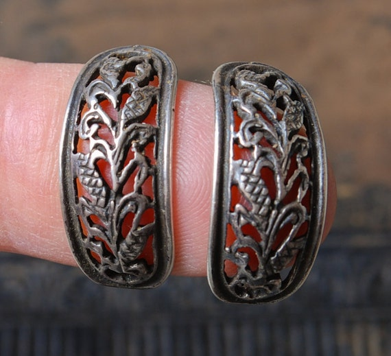 Vintage filigree Sterling silver 925 earrings