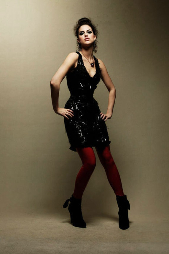 S RED PVC leggings Artifice Clothing (production sample)