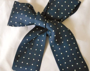 Audrey Talbott Pure Silk Polka Dot Scarf - Never Worn - Mint Condition
