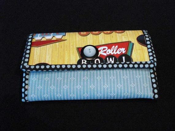 Bowling Print Womens Clutch Wallet