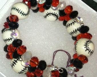 Large Crystal Baseball Bracelet - Bring your Bling to the Diamond