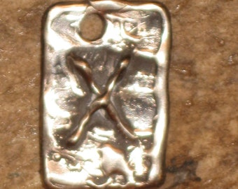 RUNES.Elder Futhark Rune of Sacrifice and Generosity GEBO.Bronze Rune Pendant.Magical Rune.Magical Amulet.Viking Runes