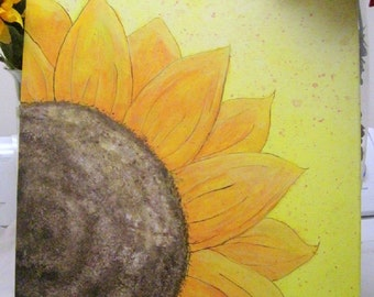 "Original 16x20 Acrylic Painting ""Sunflower"" on stretch canvas"