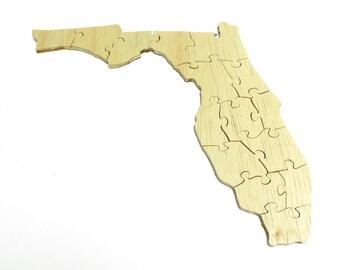 Florida Wood Puzzle - Educational Toy Puzzle