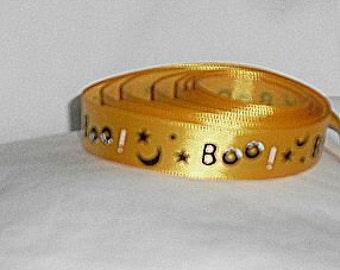 "Halloween BOO Ribbon...5/8"" X 5 yards"