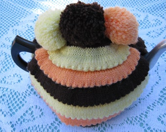 Vintage Tea Cosy - Yellow, Orange and Brown Tea Cosy/Cozy Vintage Style for your teapot.