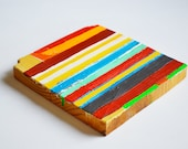 Striped Painting  - reclaimed wood