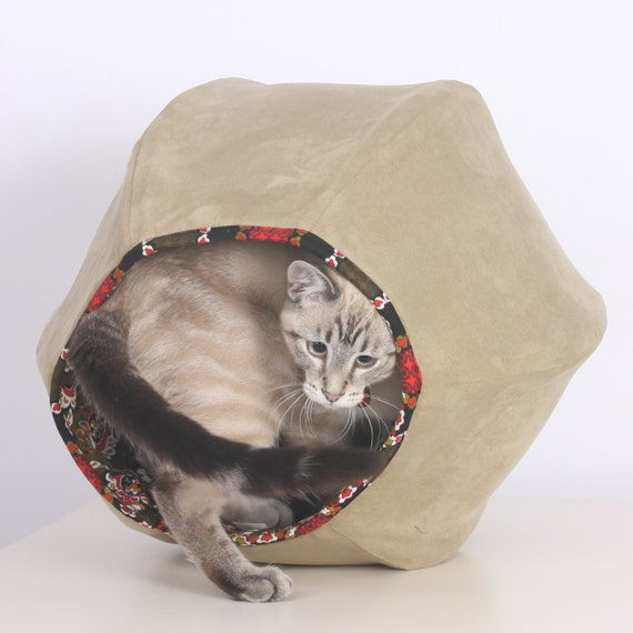 Cat Ball Unique Modern Decor Kitty Pet Furniture Bed in Sage