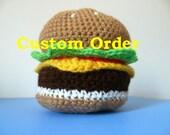 Custom Order for Rodney: 3Crochet Burger