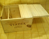 Original Wine Crate (Box) with Fitted Sliding Lid - Unfinished