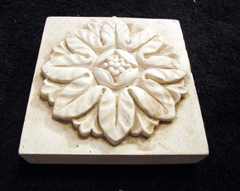 Decorative Flower Casting, Classical design plaster casting, table top decoration, wall plaque