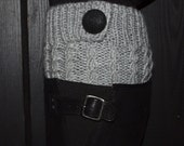 Light grey colored Cabled Boot Cuffs