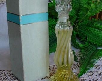 Vintage Avon bottle First Opalique Candlestick Charisma Cologne Decanter