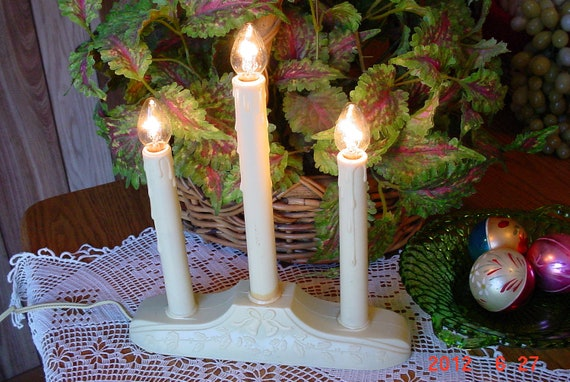 Vintage Christmas Candelabra Window Lights Holiday Decorations