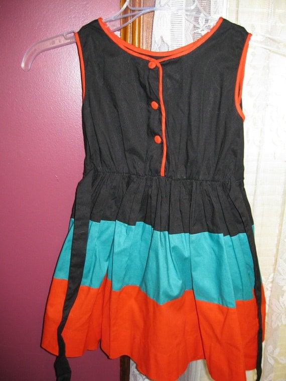 Childs Vintage Kate Greenaway Frock/dress
