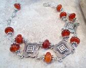 Renaissance Square and Carnelian Bracelet