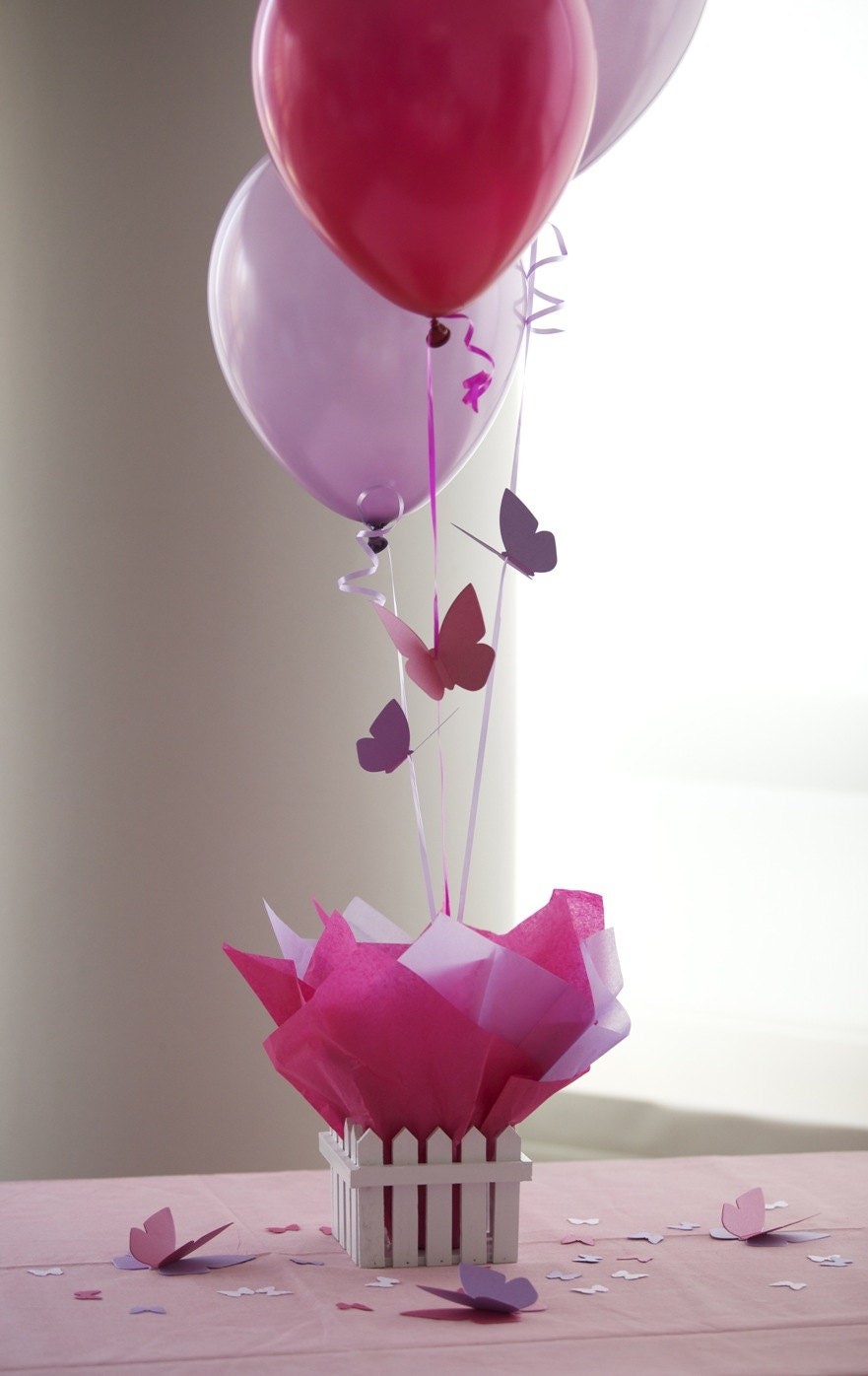 Balloon decoration with butterfly commissionme
