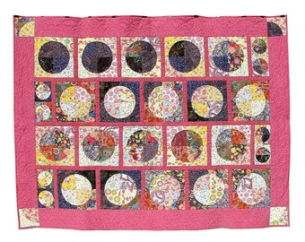 Summer Moons - queen size quilt