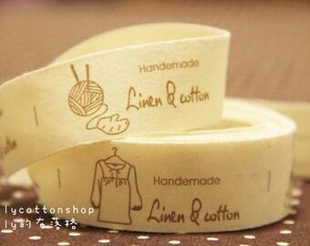 V940 - cotton tape/ sewing tape/ Ribbon - cotton - handmade