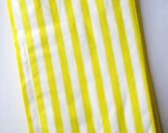 25 Yellow Striped Sweet Shop Candy Bags - Party Favor  - Party Supplies A133