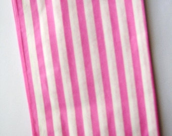 25 Pink Striped Sweet Shop Candy Bags - Party Favor  - Party Supplies A135