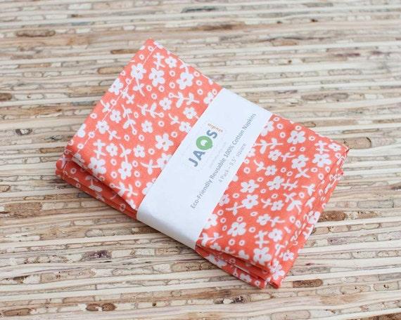 Eco-Friendly Small Cloth Napkins - Set of 4 - (N652s)
