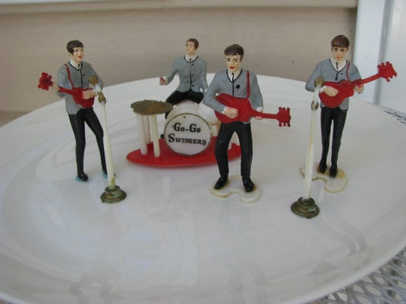 Vintage Beatles Cake Toppers