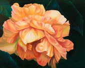 Print Oil Painting Yellow Rose -Gift of the Rose Collection- Open Edition-Joy- 8x10