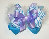 Large Layered Hairbow: custom-made with your color choice