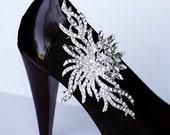 Bridal Shoe Clips Crystal Rhinestone Shoe Clips Wedding Party (Set of 2) SC028LX