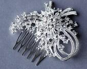 Rhinestone Bridal Hair Comb Accessory Wedding Jewelry Crystal Flower Side Tiara CM028LX