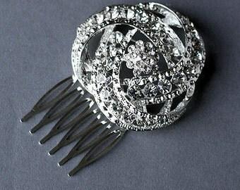 Rhinestone Bridal Hair Comb Accessory Wedding Jewelry Crystal Flower Side Tiara CM047LX