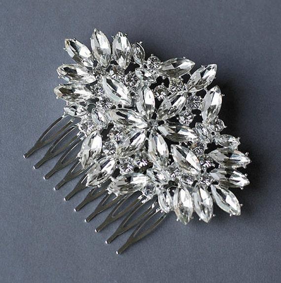 Rhinestone Bridal Hair Comb Accessory Wedding Jewelry Crystal Flower Side Tiara CM037LX