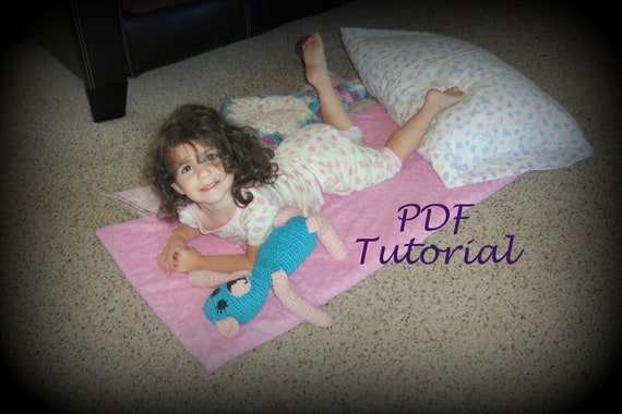 SALE - PDF Quick And Easy Kindermat Cover TUTORIAL - Nap Mat Cover - Napmat, Kinder mat - ePATTERN - Daycare, Preschool Naptime