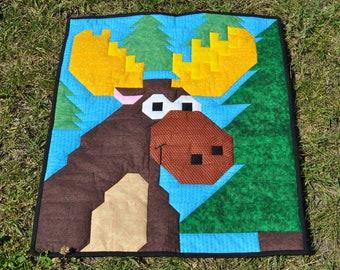 Moose Quilt Pattern - PDF