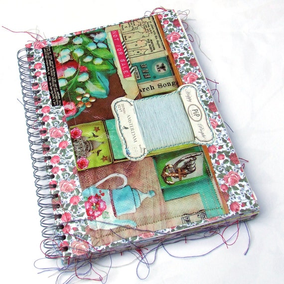 Art Journal - Scrap journal - Diary - photo album - notebook - Junk Book - Junque Art