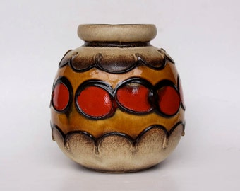 Large West German Lava Vase - Scheurich 1970s