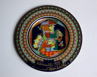 "Vintage Bjorn Wiinblad Christmas Plate 1973 by Rosenthal ""Holy Kings, Melchior"""