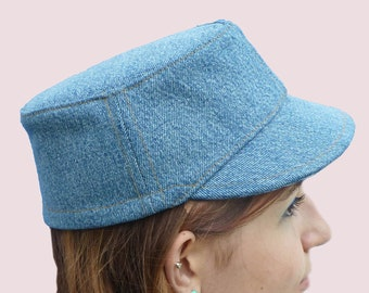 SEWING PATTERN: Elegant Cap for Women, Bucket Hat with Visor Front