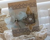 Shabby Chic ADORE Handmade Card for All Occassion