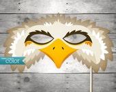 DIY Printable Eagle Mask - Mardi Gras, Birthdays, Masquerade Ball, Weddings, or Halloween