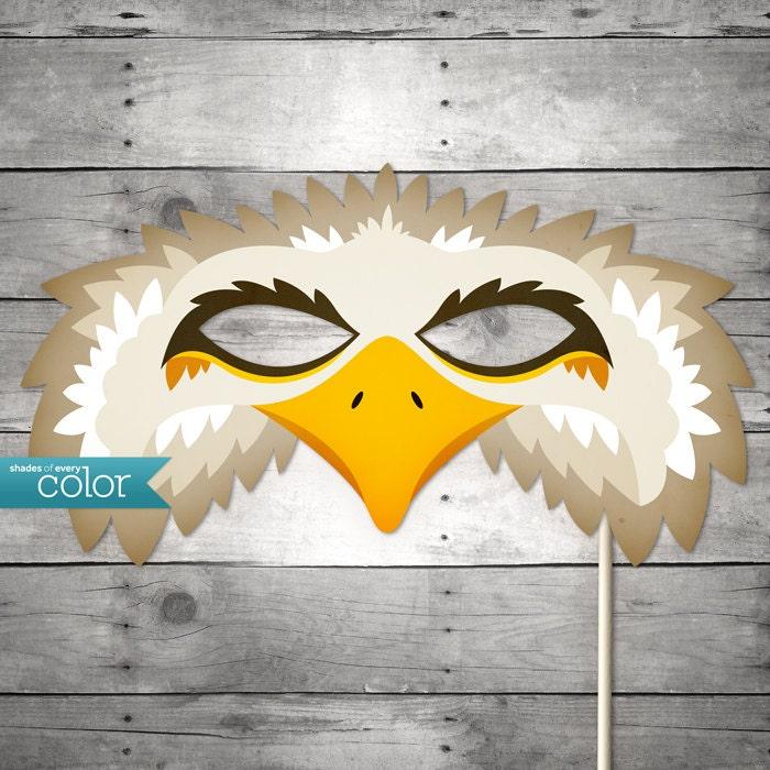 DIY Printable Eagle Mask Mardi Gras by ShadesOfEveryColor on Etsy